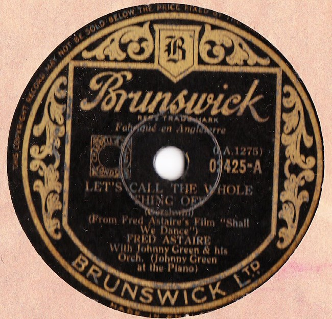 Fred Astaire - Lets call the whole thing off - Brunswick 02425