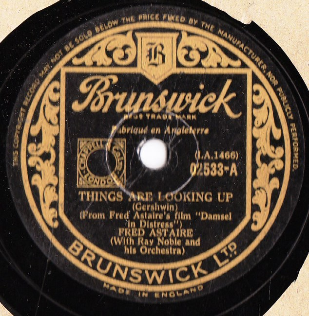 Fred Astaire - Things are looking up - Brunswick 02533