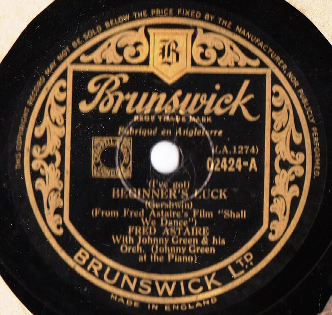 Fred Astaire - Beginners Luck - Brunswick 02424