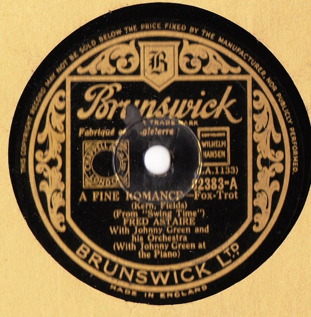 Fred Astaire - A Fine Romance - Brunswick 02383
