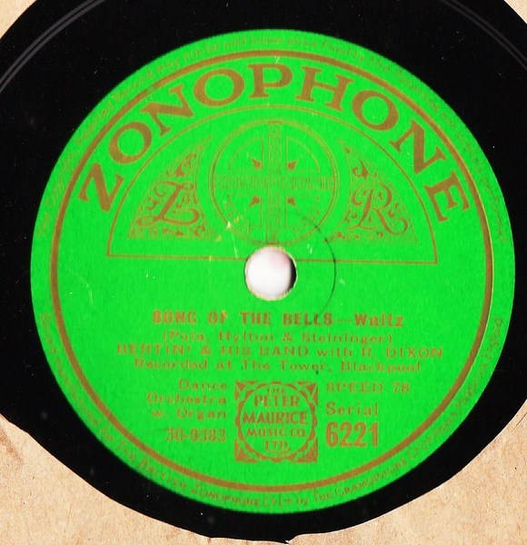 Reginald Dixon & Bertini - Song of the Bells - Zonophone 6221