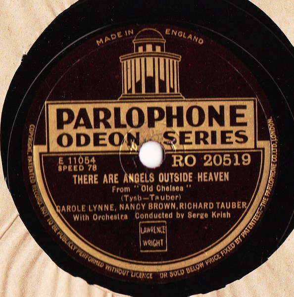 Richard Tauber - If you are in love - Parlophone RO.20519