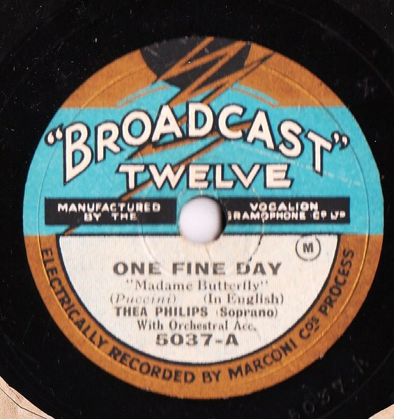 Thea Philips - One Fine Day , Puccini - Broadcast 5037