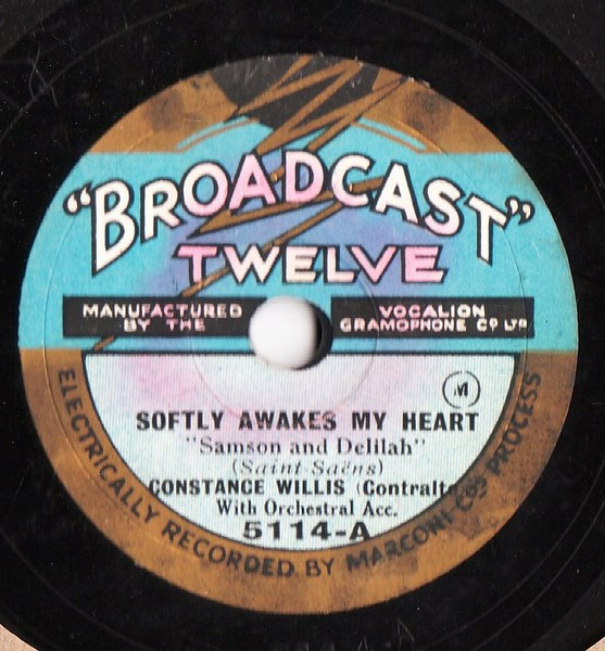 Constance Willis - Softly awakes my Heart - Broadcast 5114