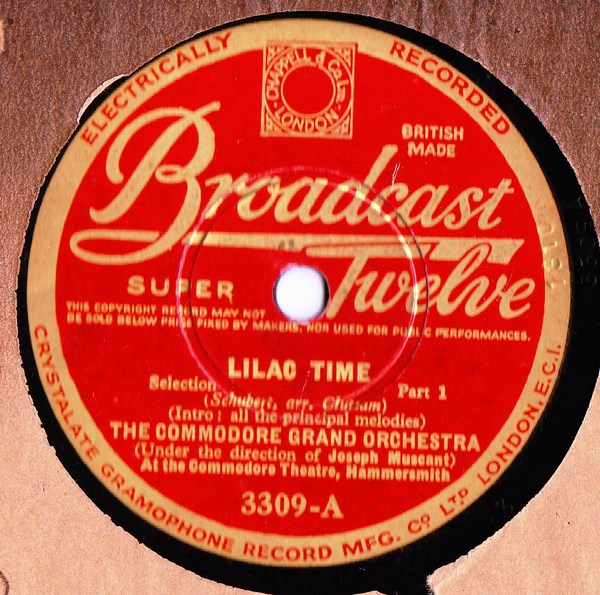 The Commodore Grand Orchestra - Lilac Time - Broadcast 3309