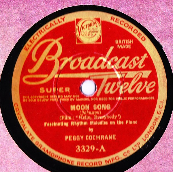 Peggy Cochrane Piano - Moon Song - Broadcast 3329