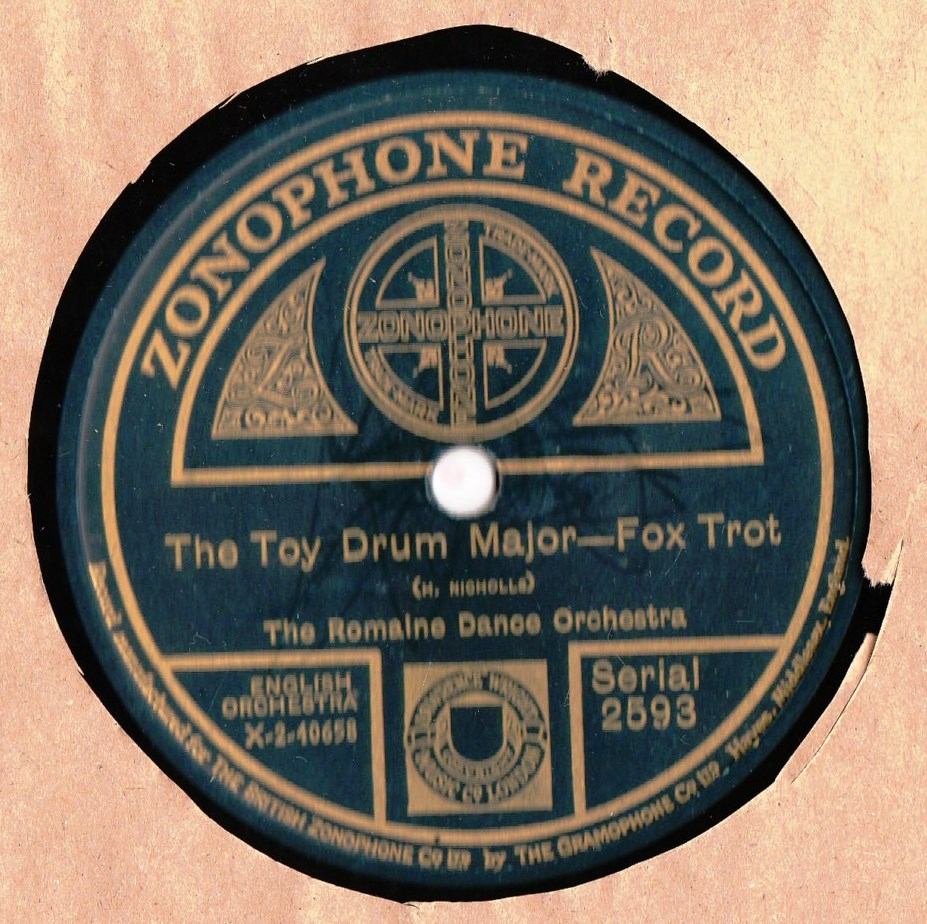 Romaine Dance Orchestra - The Toy Drum Major - Zonophone 2593