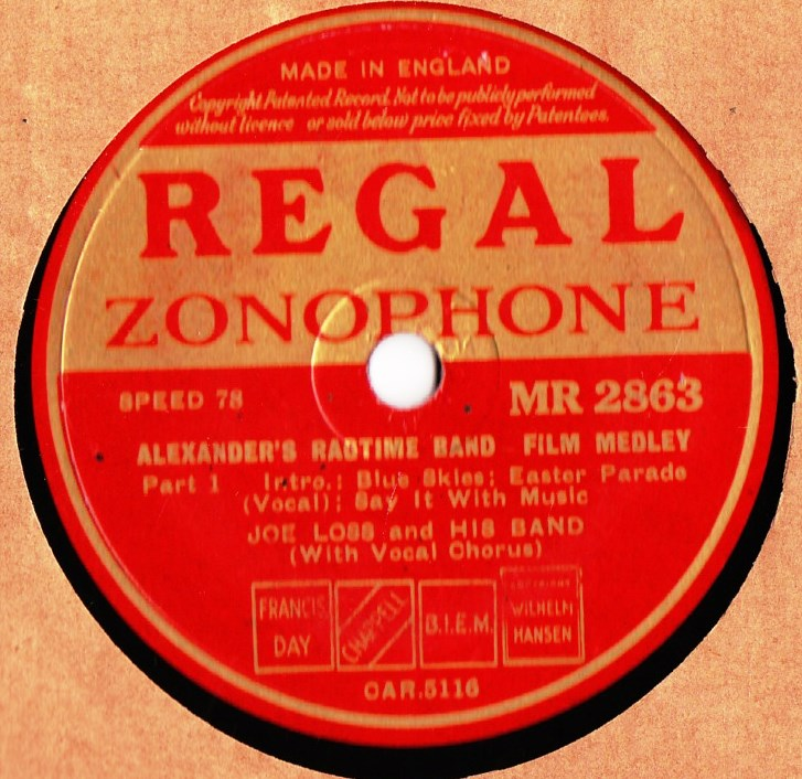 Joe Loss - Alexanders Ragtime Band - Regal MR 2863