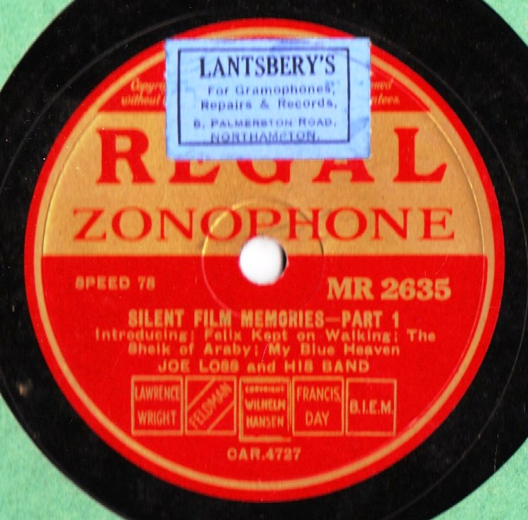 Joe Loss - Silent Film Memories - Regal MR 2635