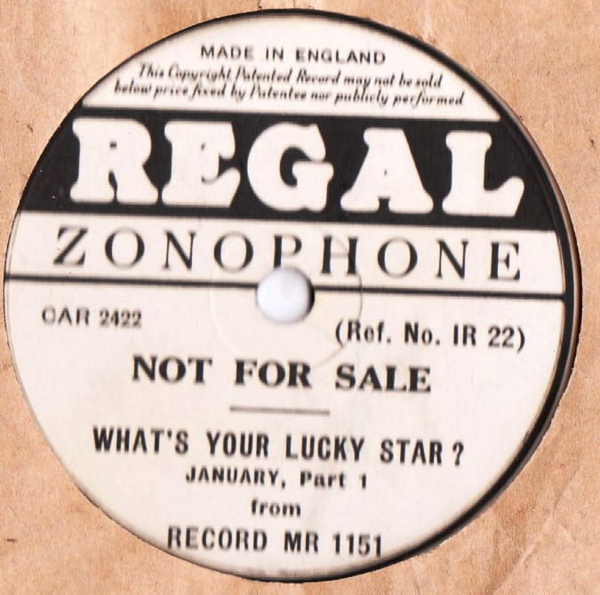 What's your Lucky Star January - Regal MR 1151 Demo