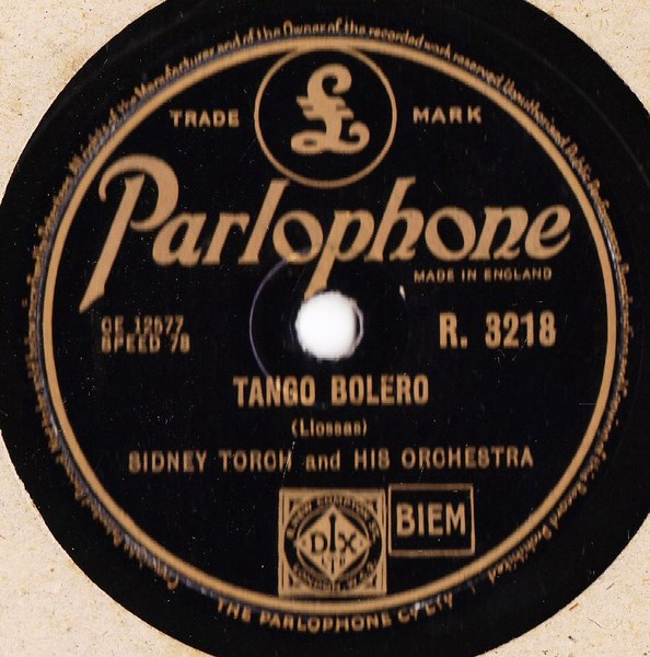 Sidney Torch - Andalucia - Parlophone R.3218