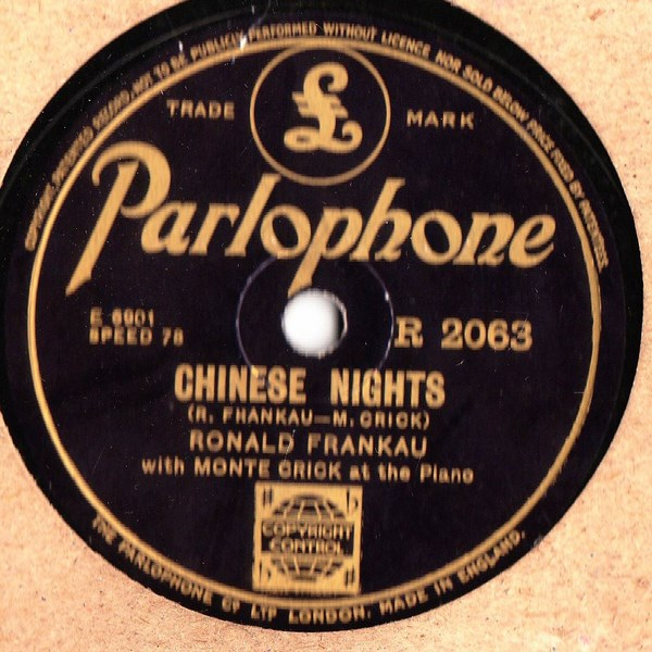 Ronald Frankau - Chinese Nights - Parlophone R.2063
