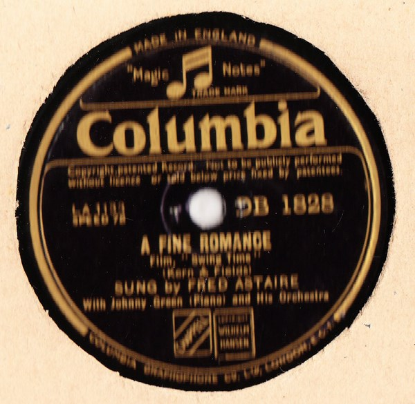 Fred Astaire - A Fine Romance - Columbia DB.1828