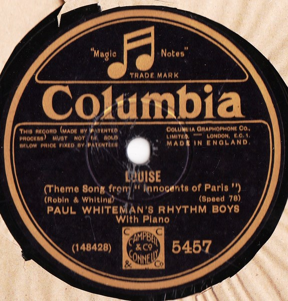 Paul Whiteman - So the Bluebirds & Blackbirds - Columbia 5457