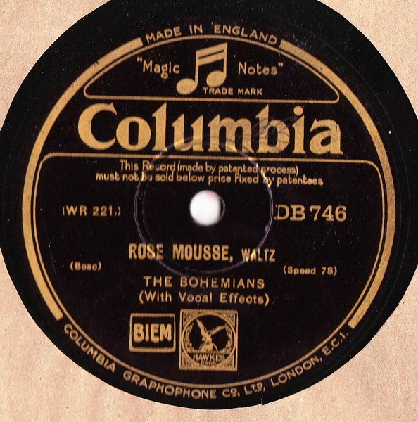 The Bohemians - Rose Mousse - Columbia DB.746