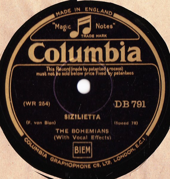 The Bohemians - Sizilietta - Columbia DB.791