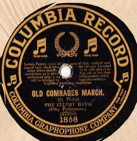 Kings Military Band / The Ellery Band - Columbia 1858