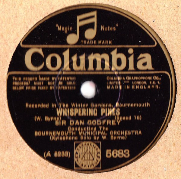 Bournemouth Municipal Orch. - Whispering Pines - Columbia 5683