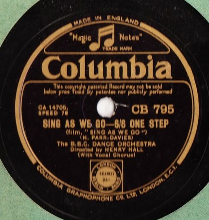 BBC Dance Orchestra - Sing as we go - Columbia CB.795