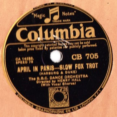 BBC Dance Orchestra - Play to me Gipsy - Columbia CB.705