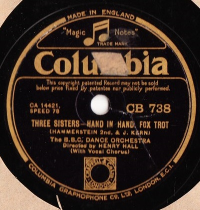 BBC Dance Orchestra - Three Sisters - Columbia CB.738