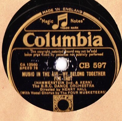 BBC Dance Orchestra - Music in the Air - Columbia CB.597