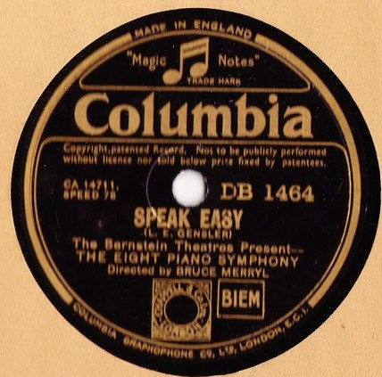 Eight Piano Symphony - Rollin' Home - Columbia DB.1464