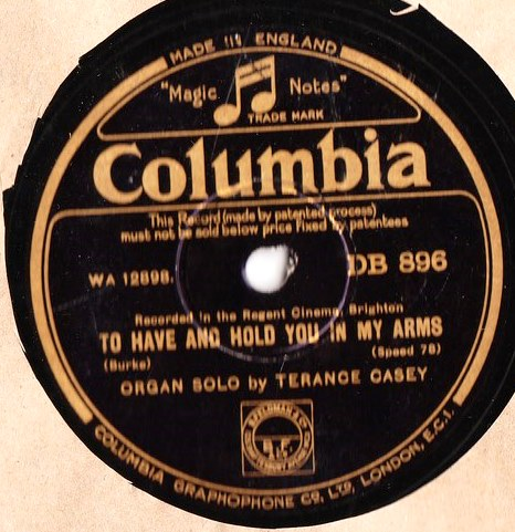 Terance Casey Organ - For you Just you my Baby - Columbia DB.896