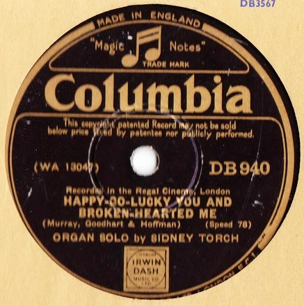Sidney Torch - The all start whistling at Mary - Columbia DB.940