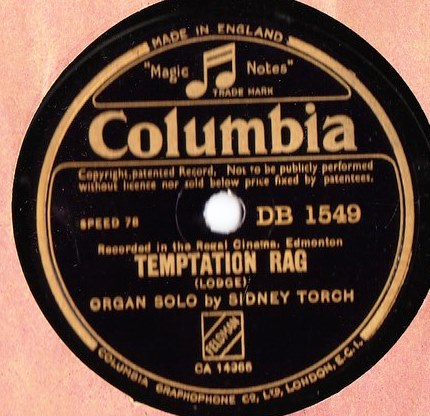 Sidney Torch - Temptation Rag - Columbia DB.1549