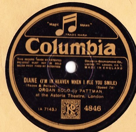 George Pattman Organ - Melody / Diane - Columbia 4846