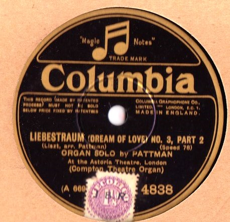 George Pattman Organ - Liebestraum No. 3 - Columbia 4838