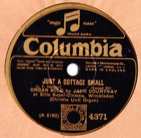 Jack Courtney Organ - Just a cottage Small - Columbia 4371