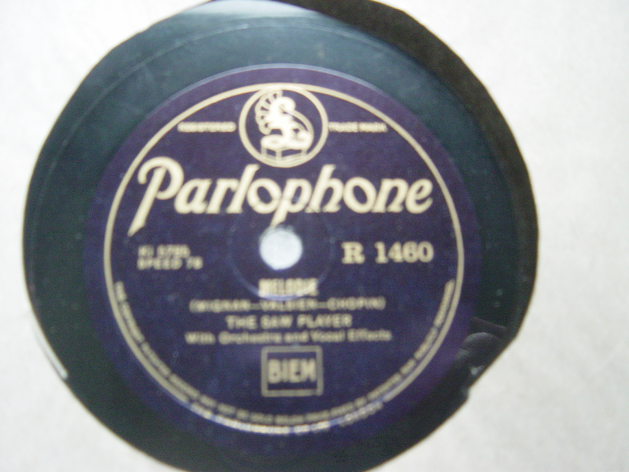 The Saw Player - Melodie / Hearts Delight - Parlophone R.1460