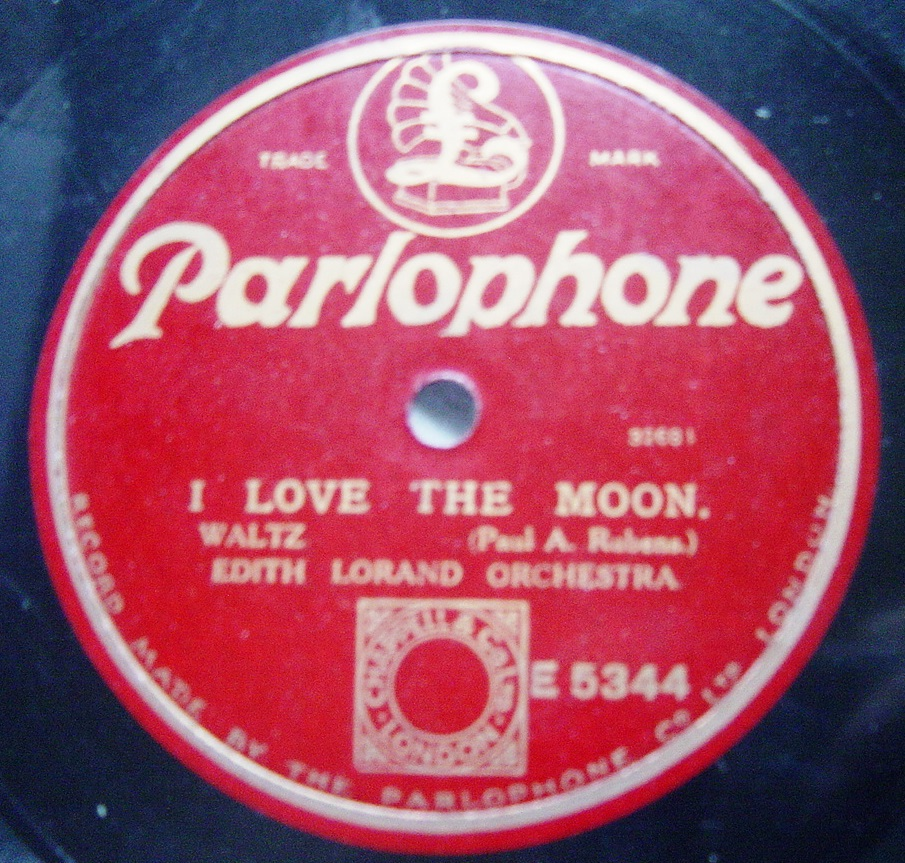 Edith Lorand - I love the Moon - Parlophone E.5344