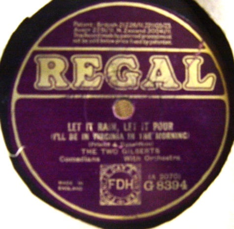The Two Gilberts - Oh Darling do say yes - Regal G.8394