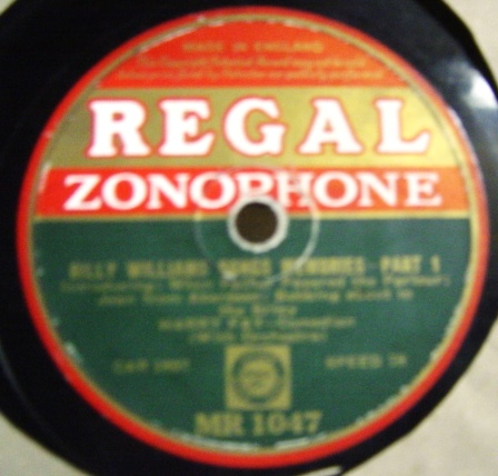 Harry Fay - Billy Williams Song Memories- Regal MR.1047