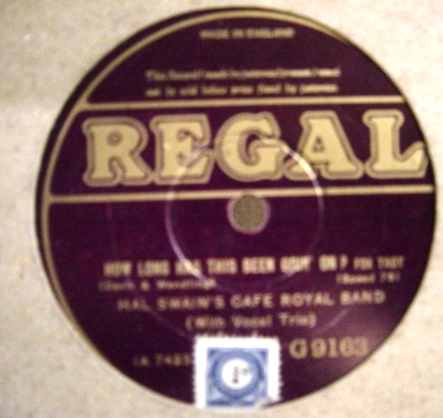 Hal Swain's Cafe Royal Band - Regal G.9163