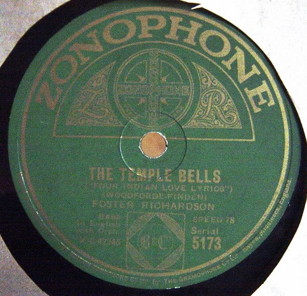 Foster Richardson - The Temple Bells - Zonophone 5173
