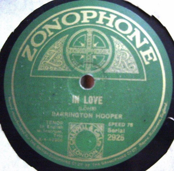 Barrington Hooper - In Love / Serenata - Zonophone 2925