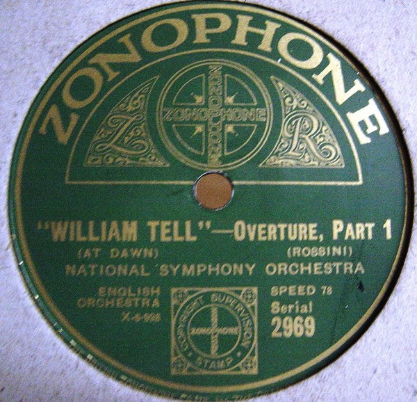National Symphony - William Tell Overture - Zonophone 2969
