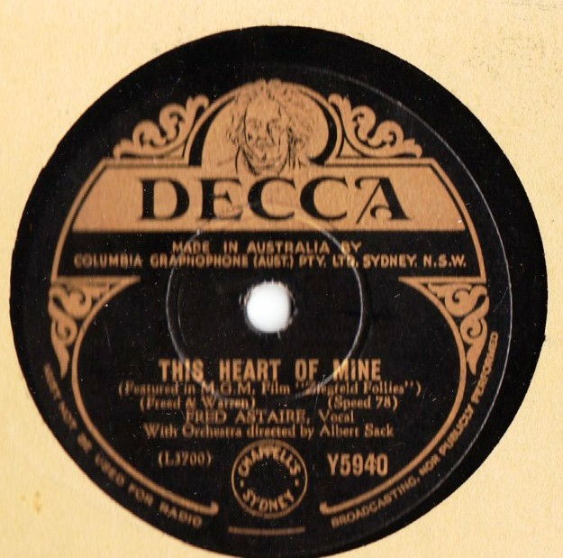Fred Astaire - This heart of mine - Decca Y5940 Australia