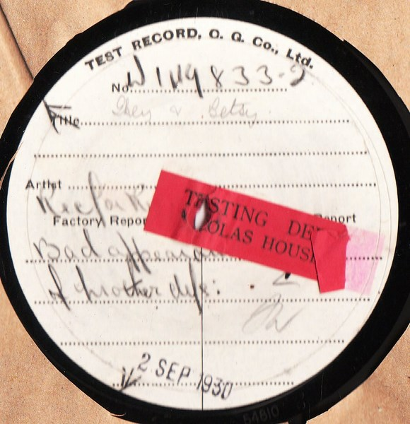 Ken Maynard - Sweet Betsy from Pike - Test Pressing W 149833-2