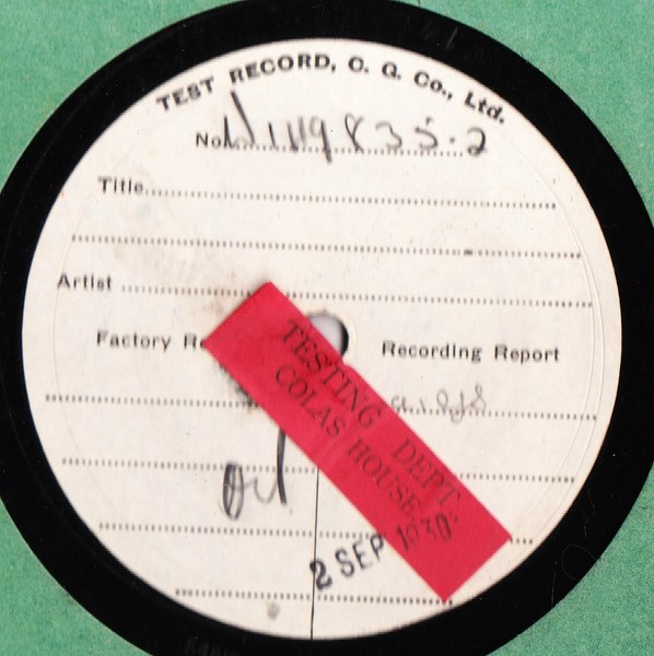 Ken Maynard - When the round up - Test Pressing W 149835-2