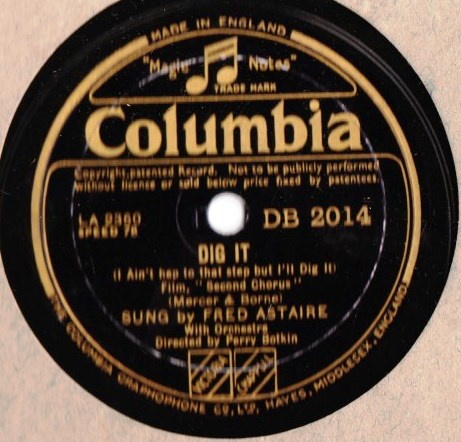 Fred Astaire - Dig It - Columbia DB.2014