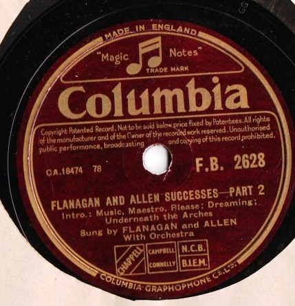 Flanagan & Allen - Successes - Columbia FB.2628