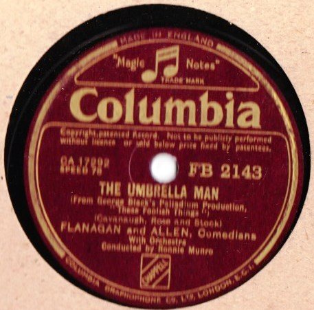 Flanagan & Allen - The Umbrella Man - Columbia FB.2143