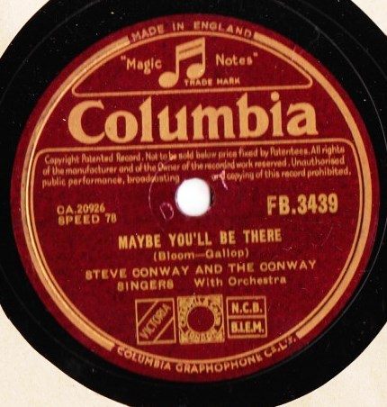 Steve Conway - Maybe you'll be there - Columbia FB.3439