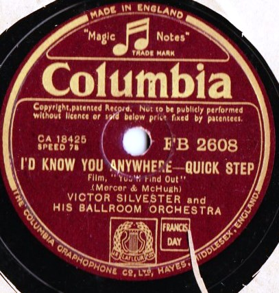 Victor Silvester - It's foolish but it's fun - Columbia FB.2608
