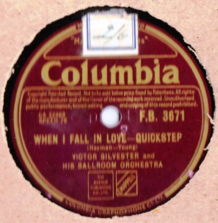 Victor Silvester - When I fall in love - Columbia FB.3671